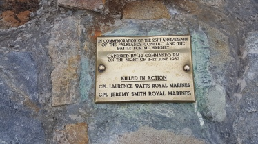 A small memorial plaque